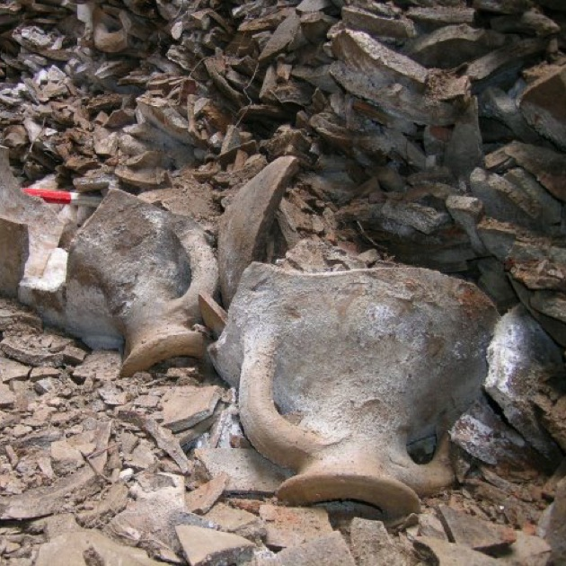 Ancient amphorae once carried olive oil across the Roman Empire