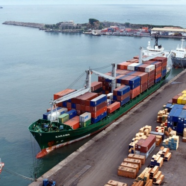 Today, much of the world's food travels in container ships