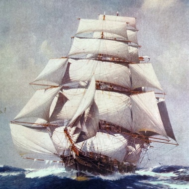 Racing clippers transported tea to British shores in record times
