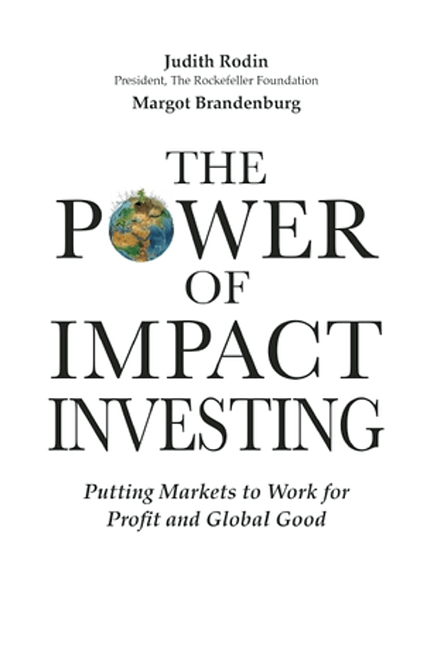 The Power of Impact Investing book cover